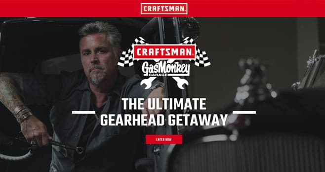 CRAFTSMAN Gas Monkey Garage Getaway Sweepstakes