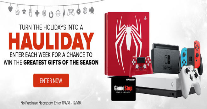GameStop PowerUp Rewards Hauliday Sweepstakes