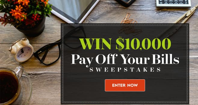 Better Homes And Gardens $10,000 Pay Off Your Bills Sweepstakes