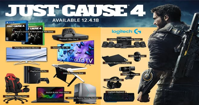 GameStop PowerUp Rewards Just Cause 4 Sweepstakes