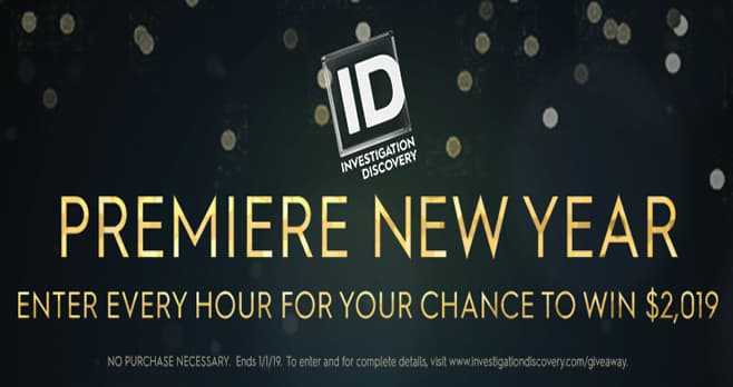 Investigation Discovery Premiere New Year 2019 Giveaway