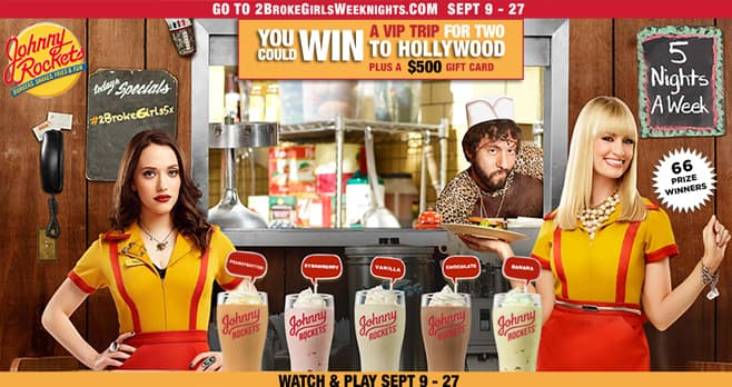 2 Broke Girls Sweet Shakes Sweepstakes