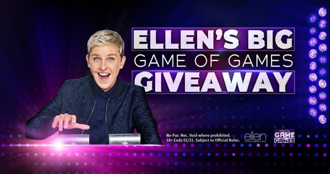 NBC Ellen's Big Game of Games Giveaway