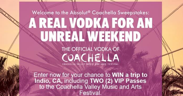 Absolut Coachella Festival Sweepstakes