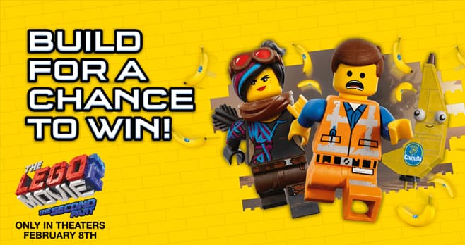 Chiquita The LEGO Movie 2 The Second Part Sweepstakes