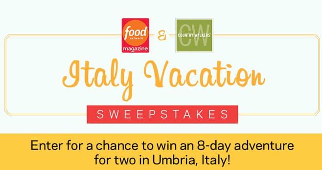 Food Network Italy Sweepstakes