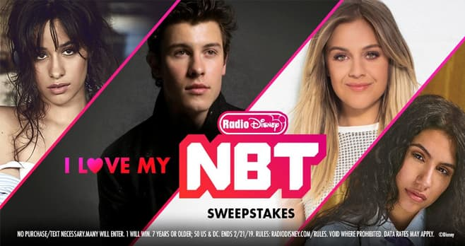 Radio Disney I Love My NBT Sweepstakes