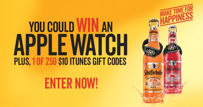 Schofferhofer Make Time for Happiness Sweepstakes