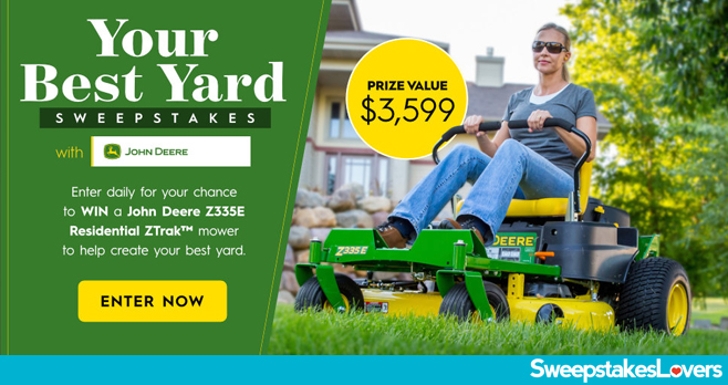 Better Homes and Gardens Your Best Yard Sweepstakes 2020 with John Deere