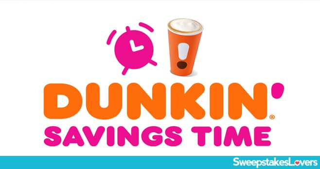Dunkin' Savings Time Instant Win Game