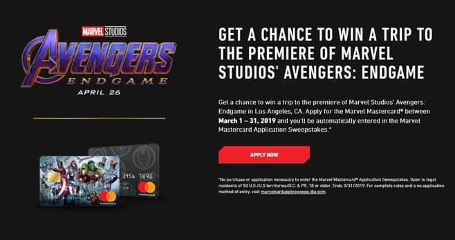 Marvel Mastercard Sweepstakes