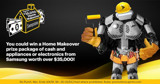 Sprint $35,000 Home Makeover Sweepstakes (Sprint.com/HomeMakeover)