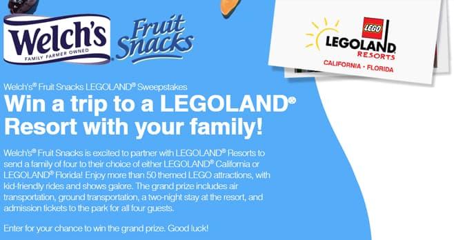 Welch's Fruit Snacks LEGOLAND Sweepstakes