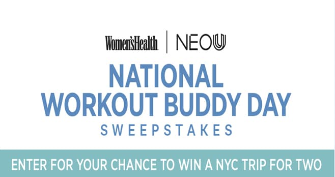 Women's Health National Workout Buddy Day Sweepstakes