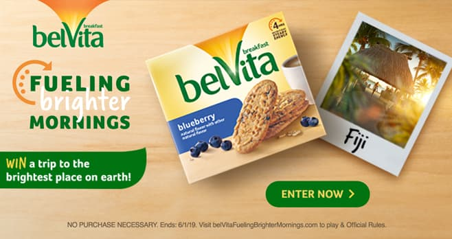belVita is Making Your Morning Brighter Instant Win Game and