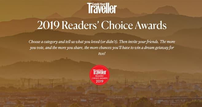 Condé Nast Traveler 2019 Readers' Choice Awards Sweepstakes