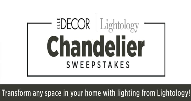 Elle Decor Lightology Sweepstakes (Lightology.ElleDecor.com)