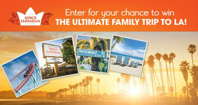 King's Hawaiian Family Fun Sweepstakes