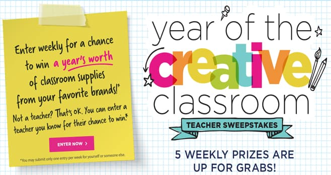 Michaels Year of Creative Classroom Sweepstakes
