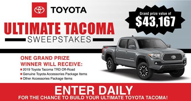 Bassmaster Toyota Tacoma Sweepstakes