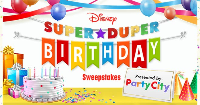 Disney Party City Super Duper Birthday Sweepstakes (SuperDuperBirthday.com)