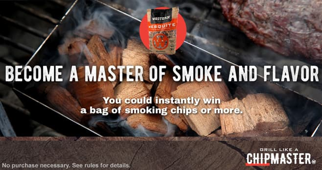 Duraflame Western BBQ Chipmaster Instant Win Game
