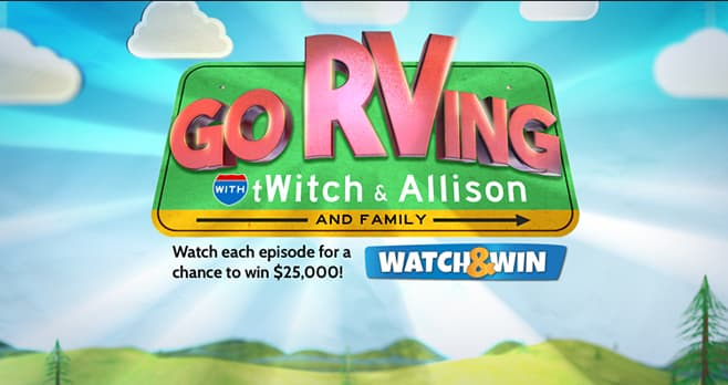 Ellen Go RVing with tWitch & Allison and Family Sweepstakes