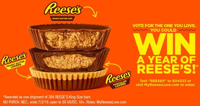 Hershey's REESE'S Lovers Sweepstakes (MyReesesLove.com)