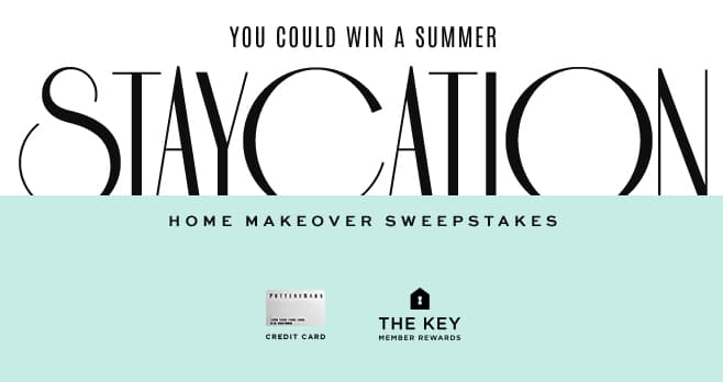 Pottery Barn Staycation Sweepstakes