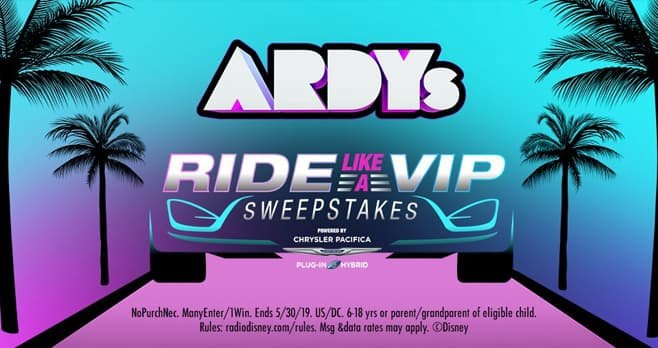 Radio Disney Ride Like A VIP Sweepstakes