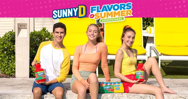 SUNNY D Flavors of Summer Sweepstakes (SunnyD.com/LTO)