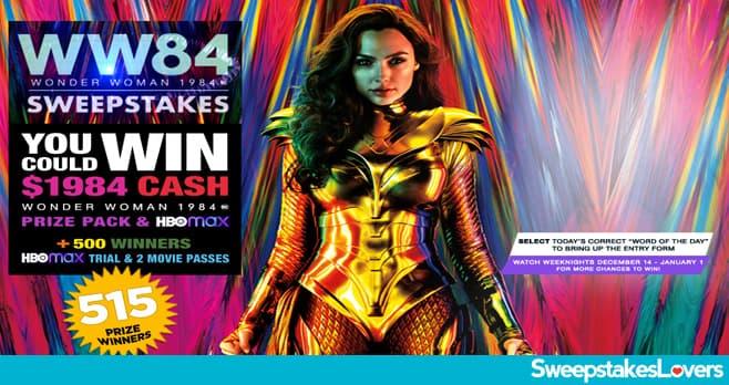 Big Bang Theory Wonder Woman 1984 Sweepstakes 2020