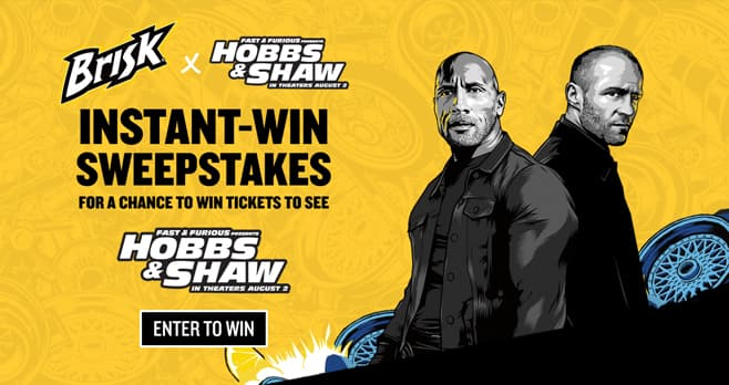 Brisk Hobbs & Shaw Sweepstakes