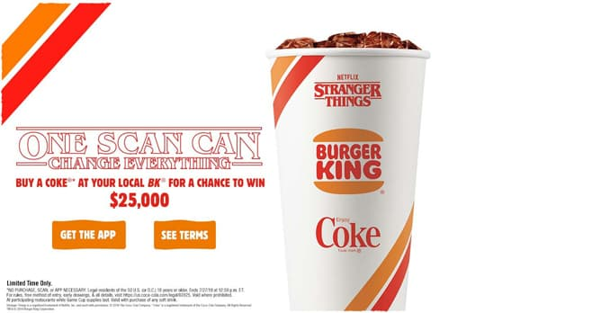 Burger King Stranger Things Sweepstakes