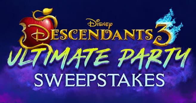 Disney Descendants 3 Party Sweepstakes (D3Party.com)