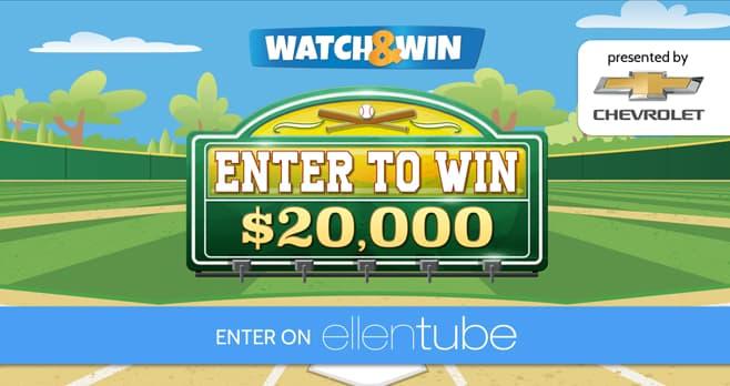 Ellen DeGeneres Chevy Watch & Win Giveaway (EllenTube.com/ChevySummer)
