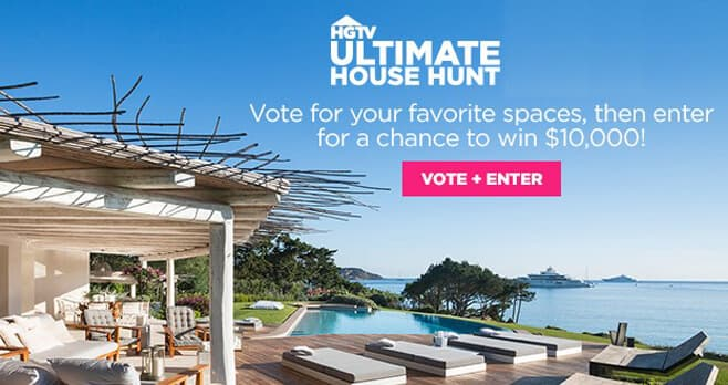 HGTV Ultimate House Hunt Sweepstakes 2020