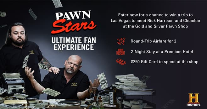 History Channel Pawn Stars Sweepstakes (History.com/PawnSweeps)