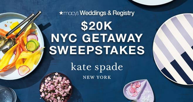 Macy's Wedding Registry Kate Spade New York Sweepstakes