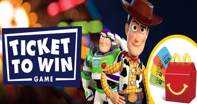 McDonald's Toy Story 4 Ticket to Win Game (MagicAtMcD.com)