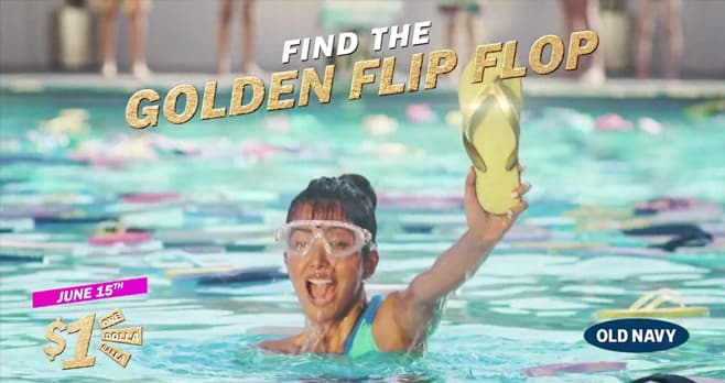Old Navy Flip Flop Day $24K Sweepstakes (OldNavy.com/FlipFlopDay)