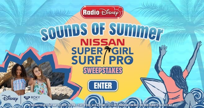 Radio Disney Sounds of Summer Super Girl Surf Pro Sweepstakes