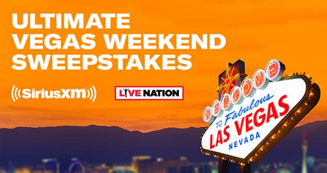 SiriusXM Ultimate Vegas Weekend Sweepstakes