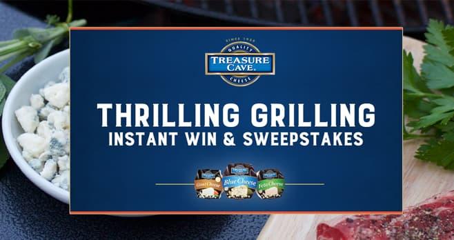 Treasure Cave Grill To Win Instant Win & Sweepstakes (TreasureCaveGrillToWin.com)