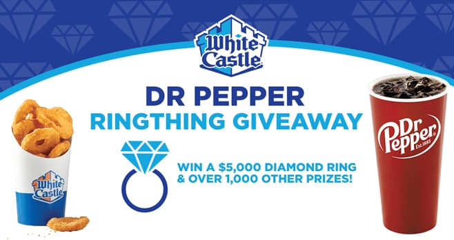 White Castle and Dr Pepper Ring Thing Giveaway (RingThingGiveaway.com)