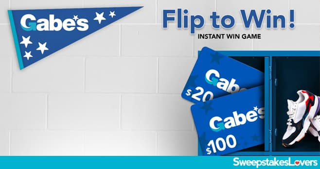 Gabe's Flip to Win Instant Win Game 2020
