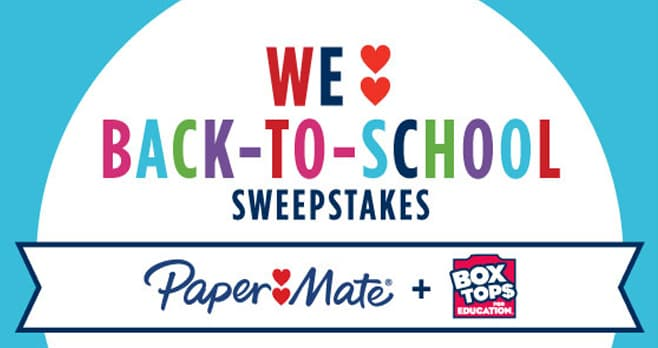 Box Tops for Education Back To School Sweepstakes