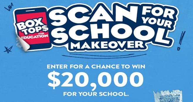 Box Tops for Education Return to School Sweepstakes