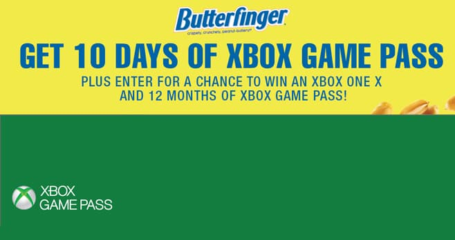 about com sweepstakes one entry butterfinger xbox game pass sweepstakes butterfingerxbox com 2475