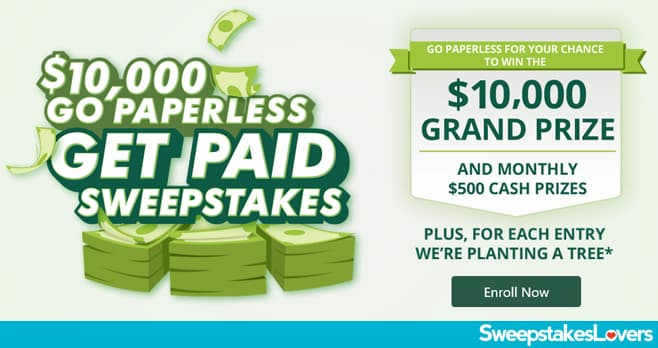 Credit One Bank Go Paperless, Get Paid Sweepstakes 2020